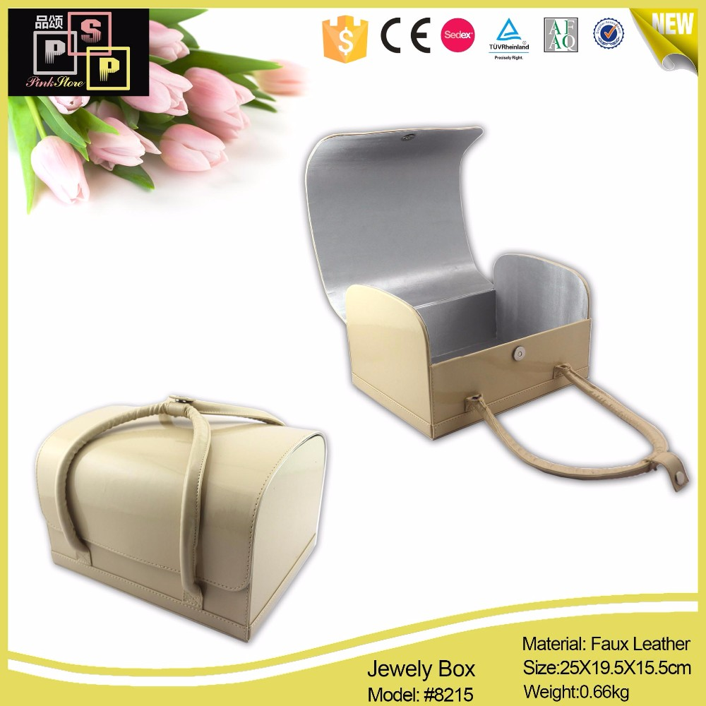 Fashion custom handmade handle leather storage box