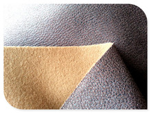 Suede Fabric Print and Bronzed Bonded Sofa Fabric