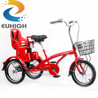 baby children seat bicycle16inch 3 wheel adult shopping tricycles