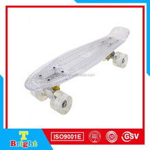 Factory supply wholesale led light wheels electric skateboard