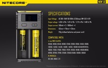 Li-ion/IMR/LiFePO4/Ni-MH/Ni-Cd dual i2 nitecore charger universal external laptop battery multi charger nitecore i2 charger