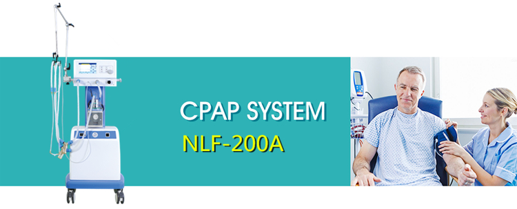 NLF-200A CE infant cpap respiratory ventilator machine with air compressor hospital control valve neonatal ventilator