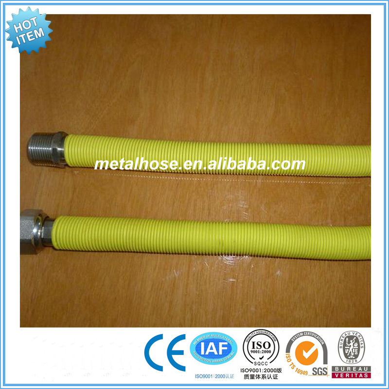 flexible natural gas high pressure metal gas connection hose for domestic use