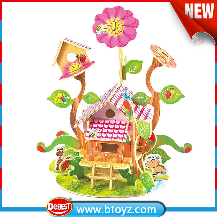 Products china children toy Wooden wooden doll house
