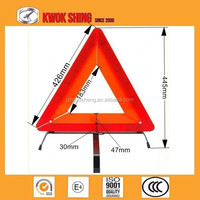 Emark certificated red reflector car warning triangle signs for emergency kit