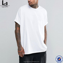 cheap china wholesale clothing men oversized roll sleeve bulk plain white t shirts