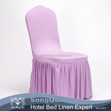 Beauty chair cover purple spandex cheap folding chair cover