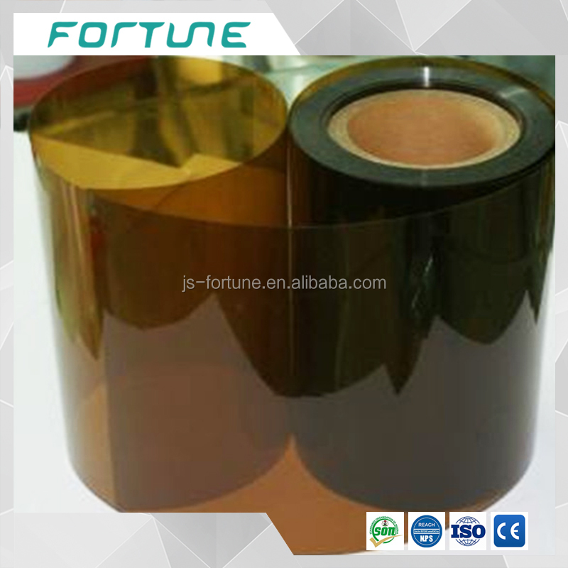brown colored transparent pvc rigid sheet plastic vinyl foil used for vaccum box