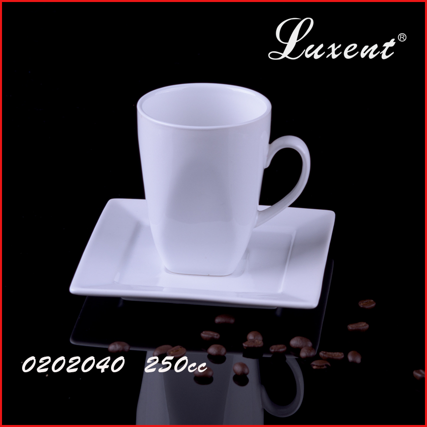 Wholesale Factory Price Unique Shape Coffee Cup And Saucer