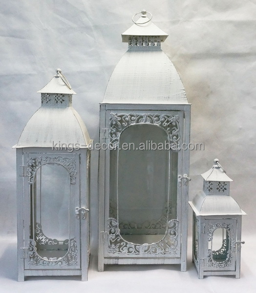 large metal lanterns