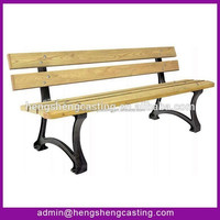 Hot sale New product garden furniture leg extenders,metal outdoor bench ,wooden slats for bench cast iron bench