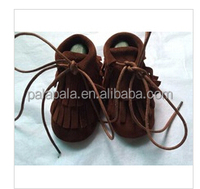 Fringe suede baby genuine cow leather soft shoes cheap fashion kids toddler infant moccasins