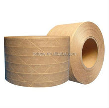 china supplier water activated fiber reinforced kraft paper tape packing tape