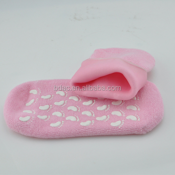 foot Sleeve footcare moisture dry foot cooling wholesale silicone gel spa socks