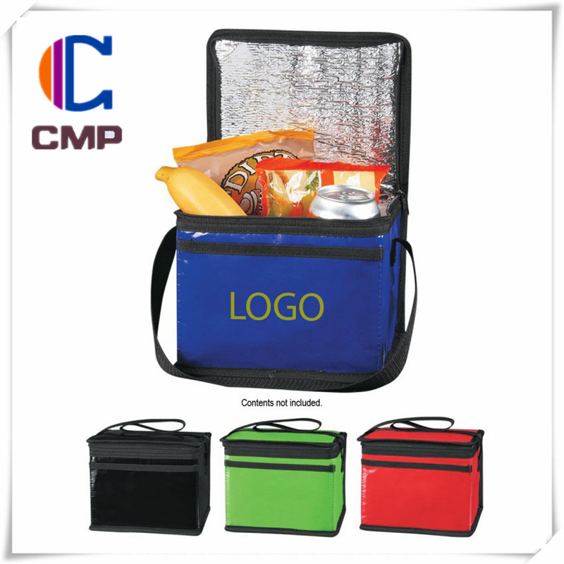 laminated bag with color logo print canvas bag draw string messenger fashion foldable bag