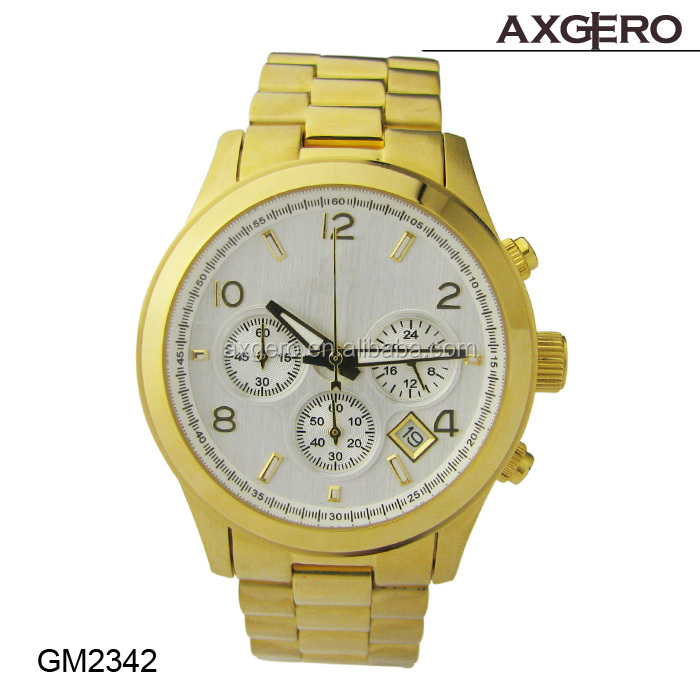 2015 China Factory Popular stainless steel&alloy man geneva brand watches