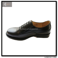 High quality police leather men dress shoes made in China