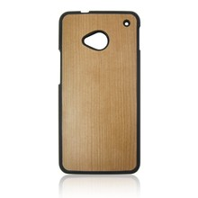 For HTC one M7 PC wood phone case for HTC M7