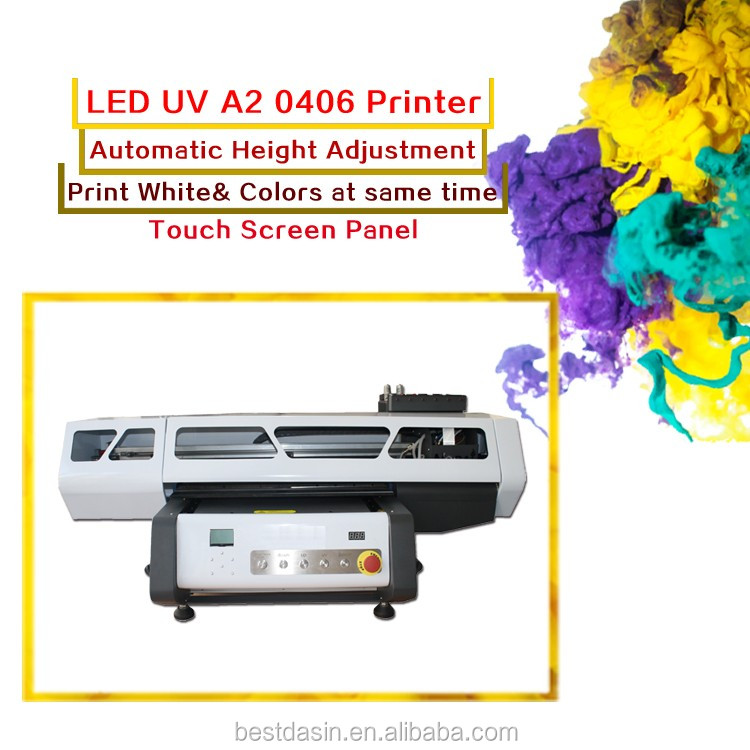 Factory outlet high quality automatic multifunction 8 colors ink UV A2 0406 Flatbed Printer machine a3 dtg printer for t-shirt