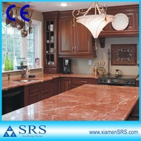 Top quality pink marble table top