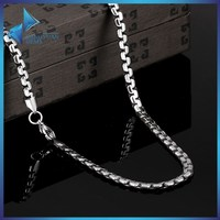 JYSZN0377 316L black stainless jewellery single men steel chain