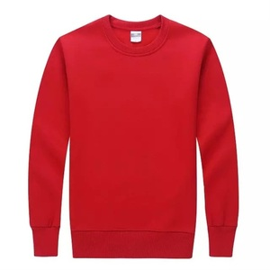 Long sleeves oversized blank red sweatshirts for customize