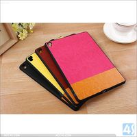 For ipad pro back cover hard pc pu leather case