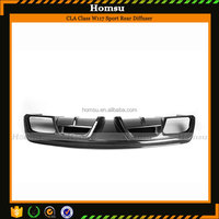Auto Car parts Carbon Fiber Materia Black Rear Lip AG Style for CLA Class W117 Mercedes Vehicles (2013-In)