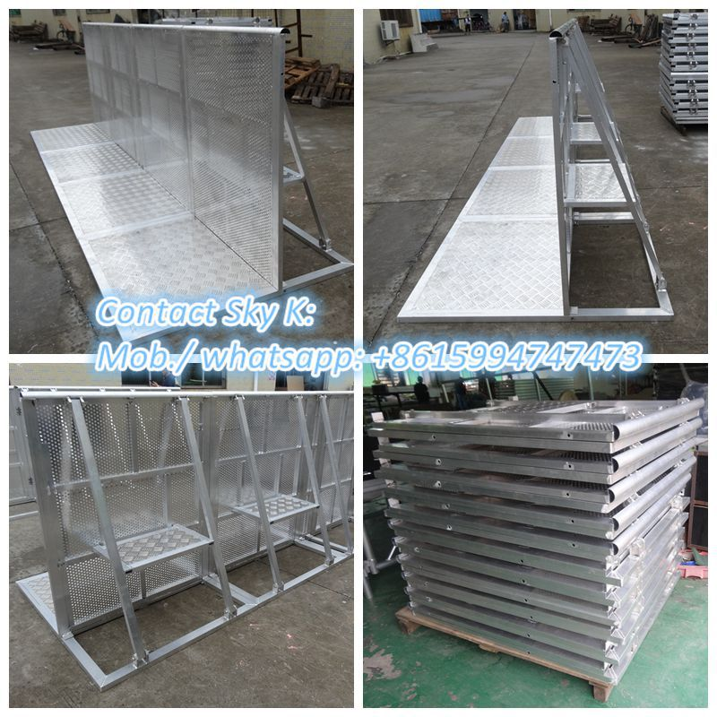 removable guardrail/ temporary fence /aluminum crowd barrier