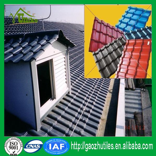 Royal style recycled resin roof tile price/Plastic shingles/construction materials