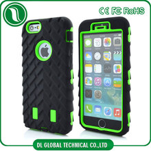 3d mobile phone cover tyre grain bumper guard case for iphone 5 back housing 3 in 1 shockproof solid emboss phone shell