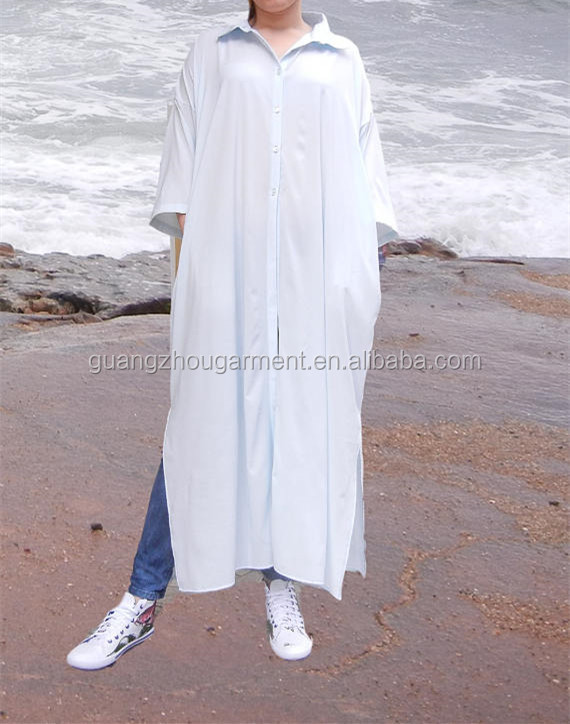 Maxi Long Oversized Loose Shirt Summer Beach Plus Size Dress White Loose Comfy women Kaftan dress