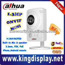 Cheap Mini 1.3 Megapixel 3.6mm CMOS PIR PoE IP Camera, dahua mini camera
