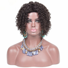 cheap short bob kinky curly lace wigs for black women bob lace front human hair wig for black man