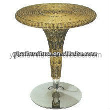 adjustable ABS plastic rattan electric steel bar tables