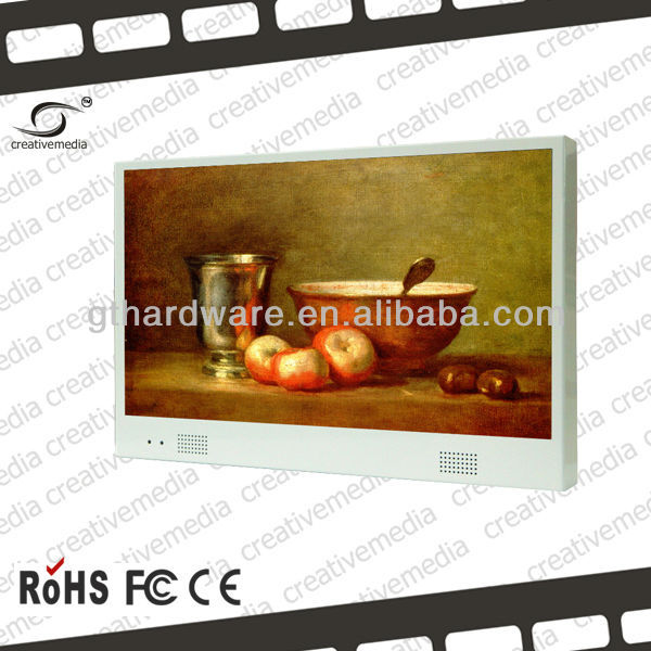 "7"" wall mount led touch screen ad player"