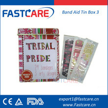 CE FDA Sterile Promotional Printed Tin Box For Plaster