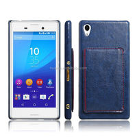 PU Leather cell phone wallet stand case for Sony Xperia M4 Aqua
