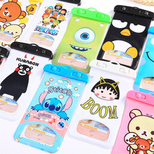 Outdoor travel mobile phone waterproof bag Cute cartoon phone waterproof bag Swimming drifting mobile phone protective cover