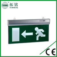 battery operated led fire emergency exit sign with light