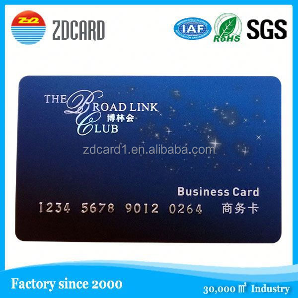 Latest design personalized barcode pvc business card