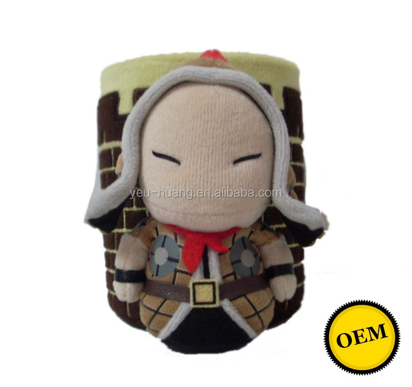 Custom soldier plush pen or pencil holder