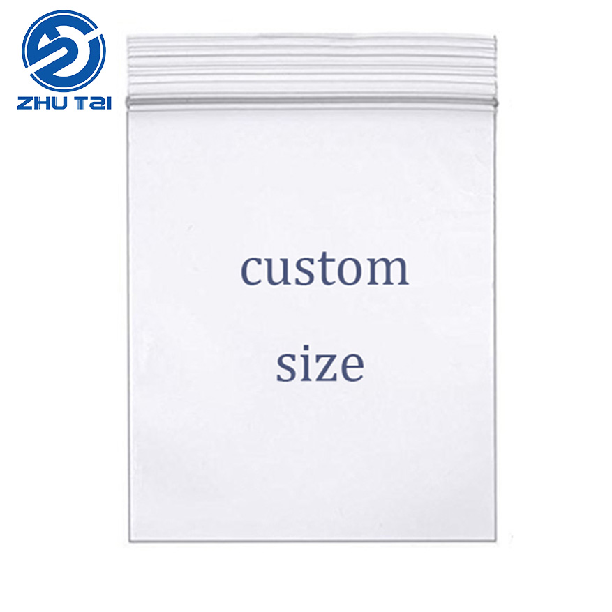 Food FDA Custom zip lock plastic bags / LDPE / <strong>PE</strong> / PP zipper plastic bags for clothes <strong>pe</strong> rice bags