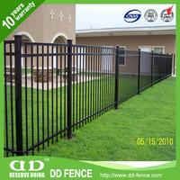 White Steel Fence Metal Fence Parts Prefab Iron Fence