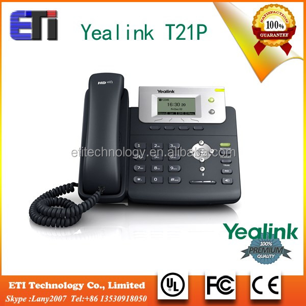 With PoE, Headset ip phone Yealink T21 ip office phone system