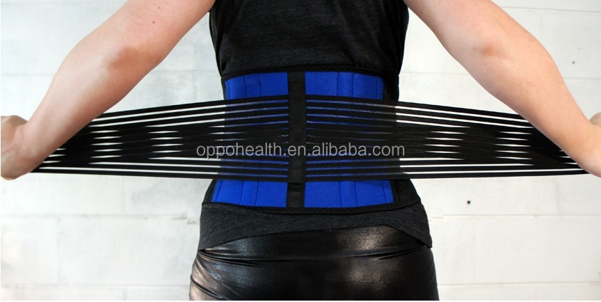 Lower back brace for heavy lifting