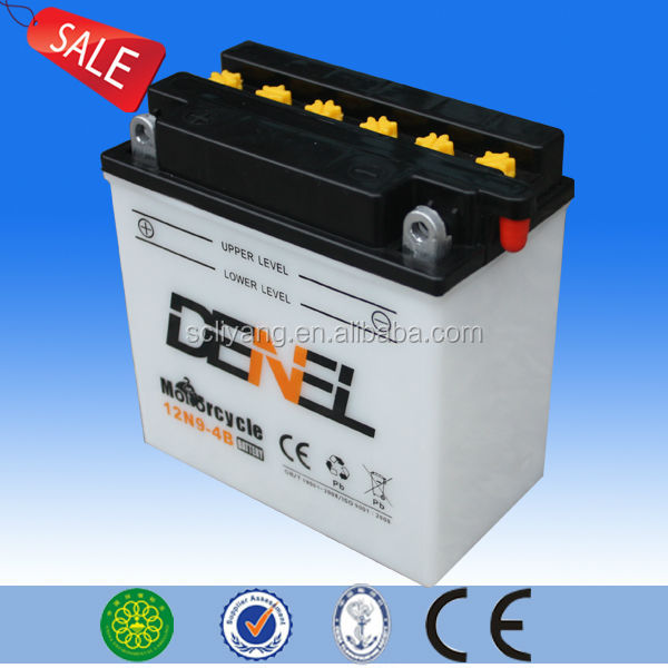 12v 9ah dry-charged motorbike batteryride on battery toy motorcycle12n9-4b-1 motorcycle battery