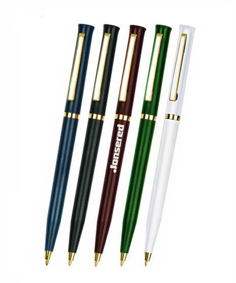 advertising promotional plastic push action ballpoint logo pen
