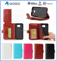 Dual Flip Stand leather Case with Additional Credit Card / ID Slots for Samsung Galaxy S6