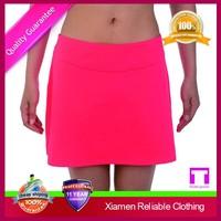 Fashionable Girls Spandex / Polyester sports skorts wholesale China supplier